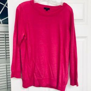J Crew Hot Pink Tippi Sweater